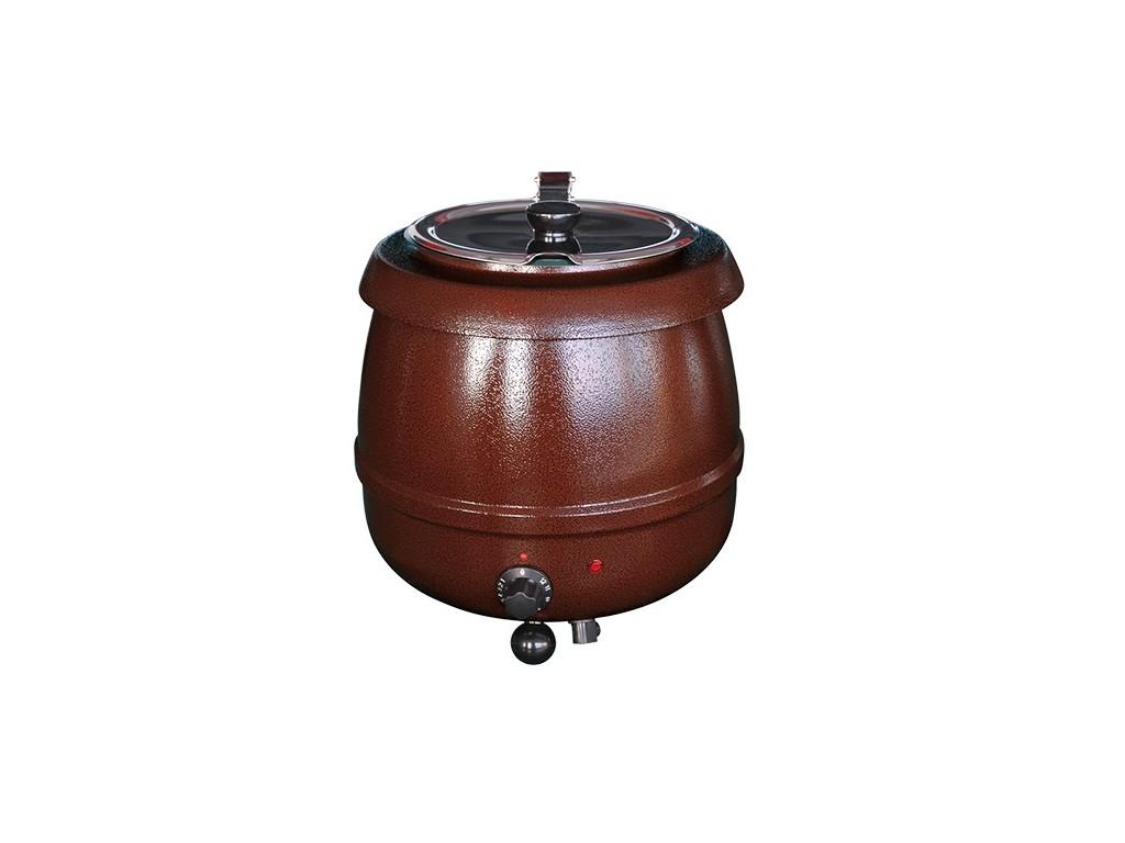 Soepketel Bistro 10 liter rustiek bruin